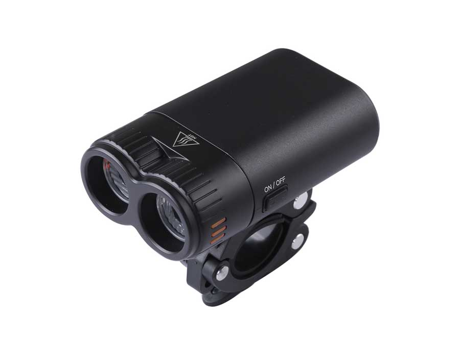 Sate-Lite USB rechargeable bicycle head light with twin lens LF-05