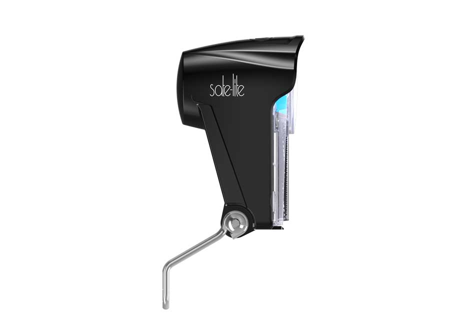 Sate-Lite bicycle headlight with AA battery, crystal-lite tech and built-in reflector