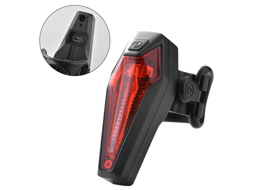 Sate-Lite USB rechargeable seat post bicycle rear light LR-01