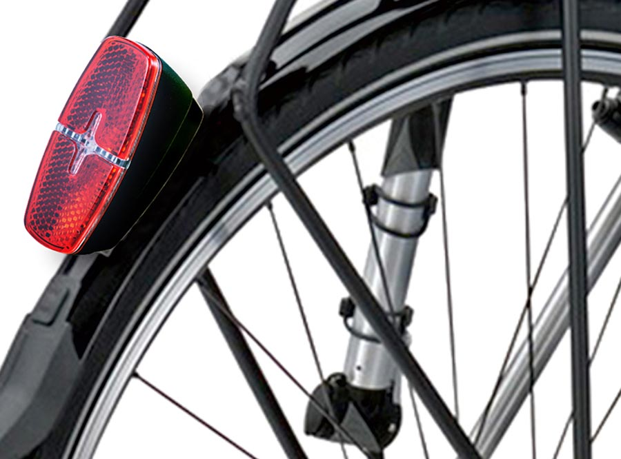 Sate-lite StVZO approved bike rear light for ebike, escooter and hub dynamo