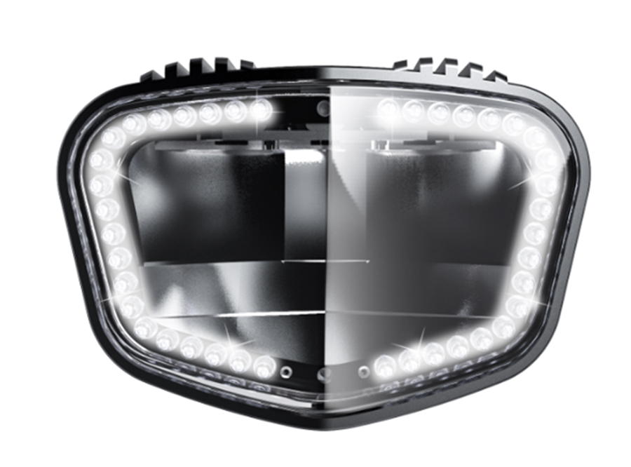 2019 sate-lite ECE R113 approved 1900 lumens super-bright headlight IPX6 waterproof 40 LEDs automotive daytime running light