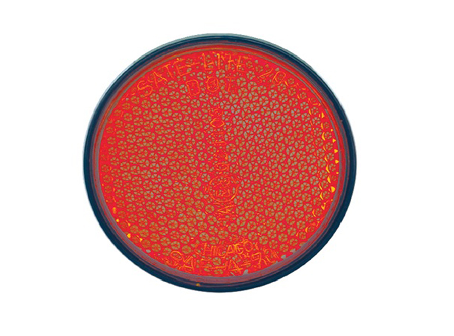 Motorcycle Reflector Round Red/600PK  40-0020-11